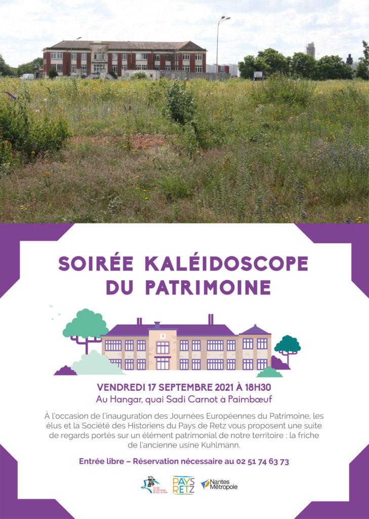 Affiche soirée kaléidoscope du patrimoine